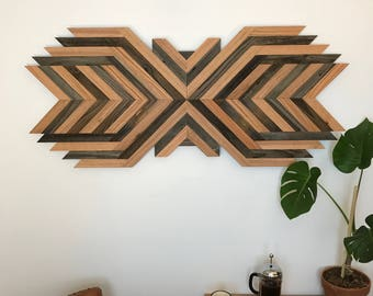Wood Wall Art - Reclaimed Wood - Rustic Decor - Abstract Art - Reclaimed Wood Wall Art - Home Decor - Dimensional Wall Art