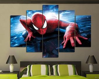 Spiderman Wall Art spiderman decor | etsy