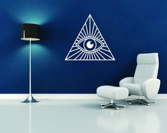 All Seeing Eye Wall Decal