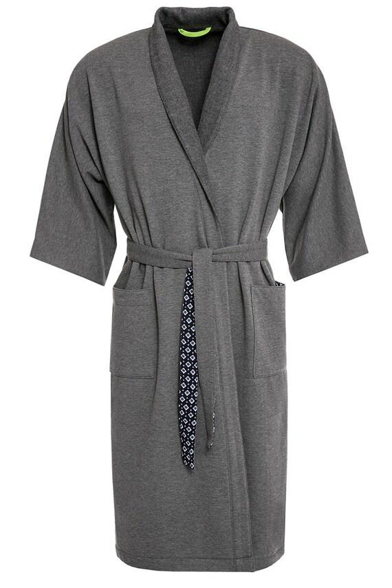 Cotton fleece robe