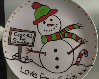 Mr Snowman Christmas Eve Plate