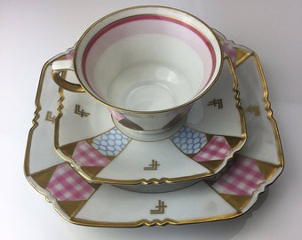 German porcelain Trio Years 1950