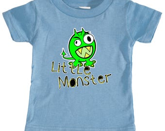 Infant T-Shirt | Monster T-Shirt | Funny Baby Shirt | Boys & Girls Colors Available | 6-24 Mos | Badass T-Shirt Co.