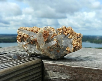 Quartz Cluster // Mexico // With Barite