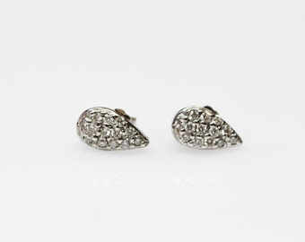 Pear Shaped Pavé Earrings
