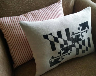 Maryland Flag Accent Pillow
