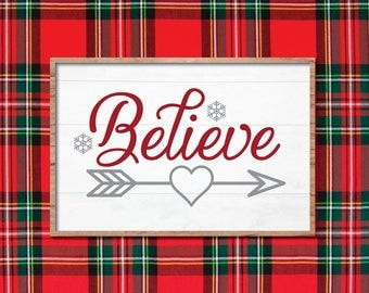 Believe In The Magic Sign, Vintage Christmas SVG, Magnolia Farms Christmas SVG, Magnolia Market, Fixer Upper, Joanna Gaines, Vector, Stencil