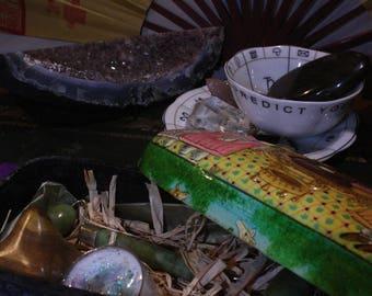 Indian Jade Roller Shiatsu Lymph Node Trinket Box Gift Set