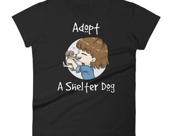 Adopt A Shelter Dog - Women's Short Sleeved T-Shirt