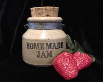 Moira Pottery Homemade Jam Crock - Mid Century - Made in England - Adorable!