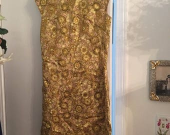 Vintage Gold Dress Size Medium