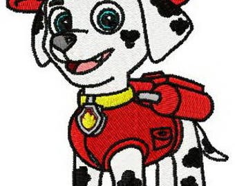 Paw patrol Marshall embroidery design