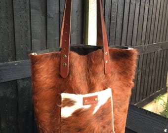 Moo Made -Cow Hide Tote Bag