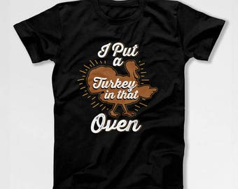 Thanksgiving Pregnancy Announcement Expecting Father New Daddy Funny Thanksgiving T Shirt Turkey Day Matching Couples Mens Tee TEP-45