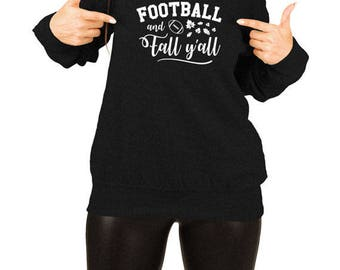 Funny Holiday Sweater Thanksgiving Outfit Turkey Gift Ideas For Women Holiday Clothing Thanksgiving Football Slouchy Sweatshirt TEP-439