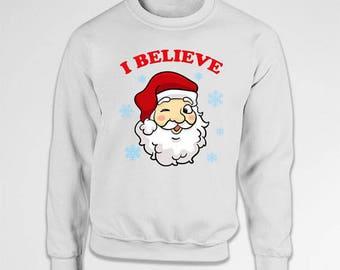 Funny Christmas Sweater Santa Claus Christmas Pullover Holiday Jumper Xmas Clothes Santa Sweatshirt Christmas Outfits X-Mas Hoodie TEP-510