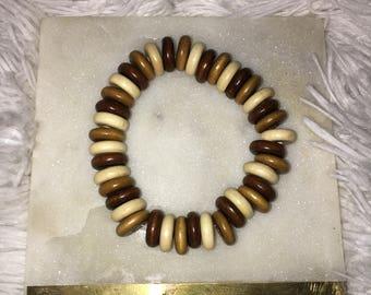 donut wooded bracelet