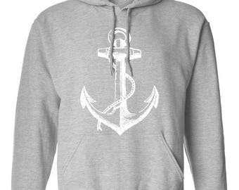 Anchor Adult  Unisex Hoodie Hooded Sweatshirt Best Seller Designed Hoodies for Women / Men