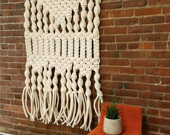 Extra Large Macrame Tapestry; Bohemian Wall Hanging; Woven Wall Decor