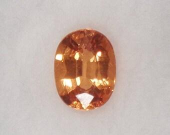 Spessartite Garnet 1.39ct Natural Loose Orange Oval Cut Faceted Gemstone