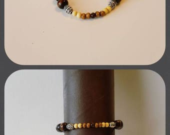 Brown, 6mm, wooden beads.