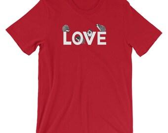 Hedgehog Love Cute Graphic T-Shirt Short-Sleeve T-Shirt of Bliss  A Princess Pricklepants Original by Urchin Wear - Hedgehog Shirt