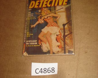 Famous Detective magazine back issue dated 1955    [c4868o]