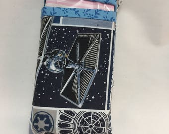 blue and grey star wars tissue packet cover