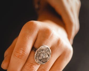 Wife ring gift / Winter gift wife /  gift wife / Fish ring / ethnic ring / boho ring / gift for her / valentines day gift / silvered ring