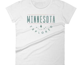 Minnesota Must Be Explored Funny MN State Gift Tee Women's Short Sleeve T-Shirt