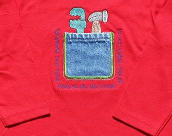 Tool Pocket Shirt Boy / Bible Verse Shirt / Gift /Bible Verse Tool Shirt / Applique Tool Shirt / Little Helper / Embroidered Tool Shirt /Fun