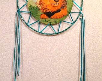 Blue Ribbon Lion Dreamcatcher