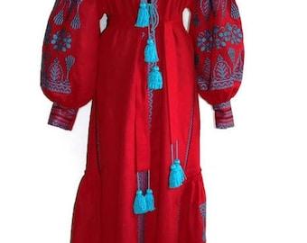 Caftan Kaftan Abaya Dress Embroidered Dresses Bohemian Clothes Ethnic Ukrainian Embroidery Vyshyvanka Custom Boho Vishivanka
