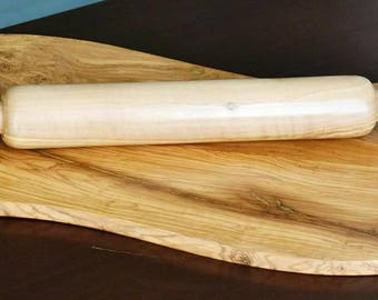 Handcrafted Olive Wood Rustic Rolling Pin, Carved Wooden Eco Friendly Healthy