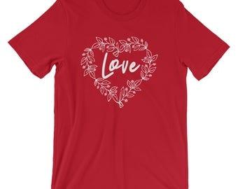 Valentines Day Heart Shirt - Love Unisex T-Shirt - Valentines Day Gift - Valentines  day gift