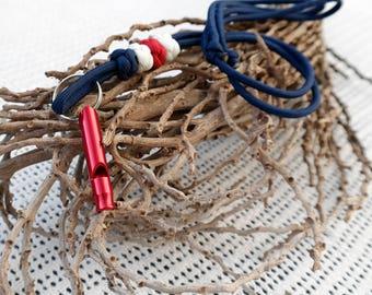 Dog whistle lanyard 'Maritime'