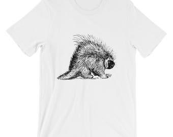Porcupine Shirt - Hedgehog Animal Art Graphic Tee