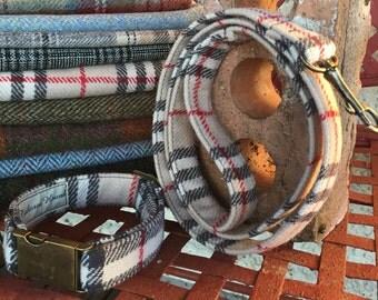 Tweed collar and lead sets