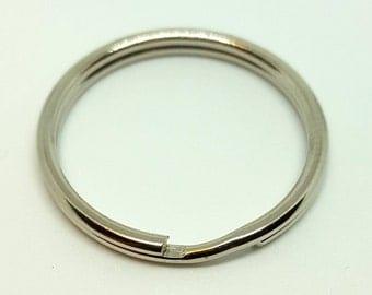 Keyring Hoops / Silver Metal Split Rings / Keyring Blanks - Pack of 10