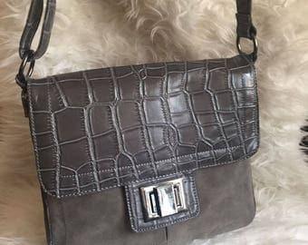 VINTAGE BAG// 60s Italian leather