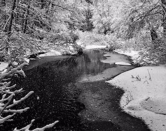 Frozen River - Wells, ME - Photography