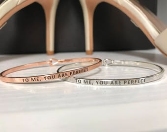 To Me, You Are Perfect Bracelet