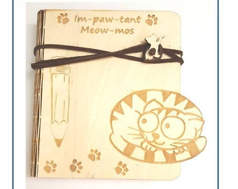 Cat Wood Notebook