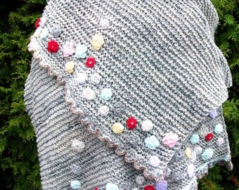 Shawl with flowers