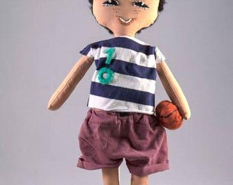 Ragdoll Handmade, Chinese kid's handmade rag doll with ball