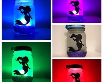 Mermaid Mason Jar nightlight/lantern