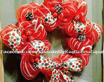 Christmas wreath decomesh
