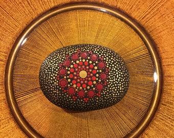 Mandala Design Stone Art