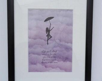 Dancing in the Rain Framed Artwork