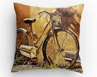 Bicycle Pillow, country home decor